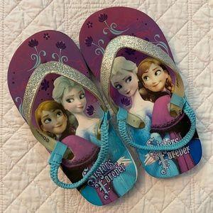 Disney Frozen Sisters Forever Glitter Flip Flops